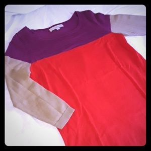 🧡ColorBlock Sweater LOFT Brand sz MEDIUM🧡